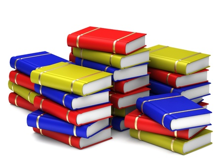 Stack of colorful books on white background. Stock Photo - 12023780