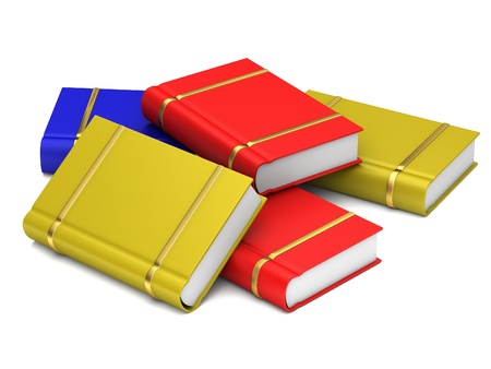 Colorful books on white background. Stock Photo - 12023774