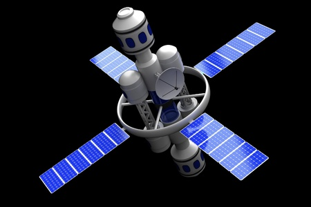 The Space Station on a black background.