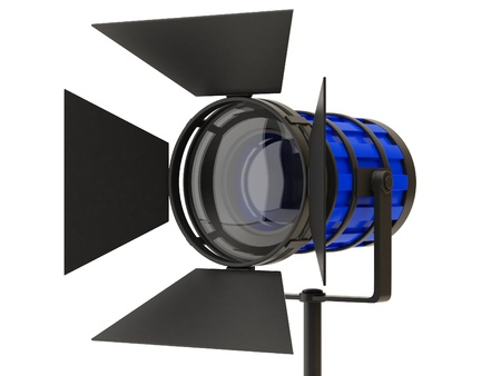 searchlights: Professional spotlights isolated on a white background.