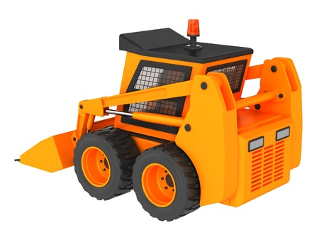 Skid steer isolated on a white background. photo