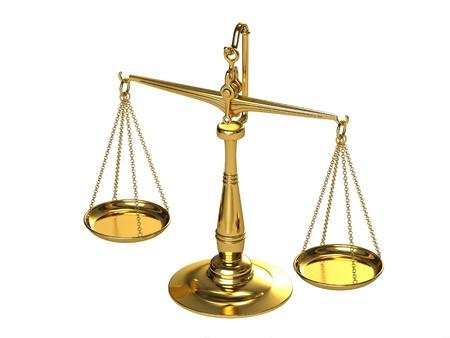 trial balance: Escalas cl�sicas de oro Foto de archivo
