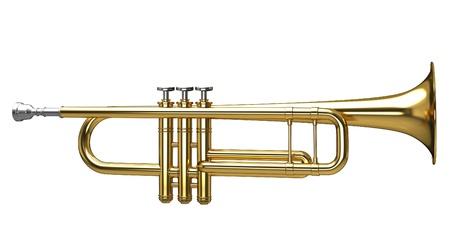 Representación 3D de una trompeta Foto de archivo