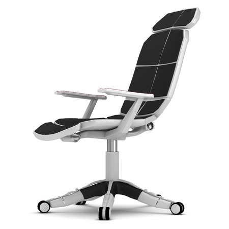 Office chair in a high-tech style on a white background. Stock Photo - 12065813