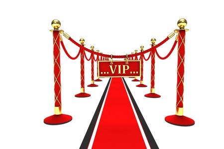 velvet rope: A red carpet and velvet rope on a white background