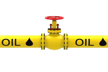 chink: Valve for pumping oil on a white background.