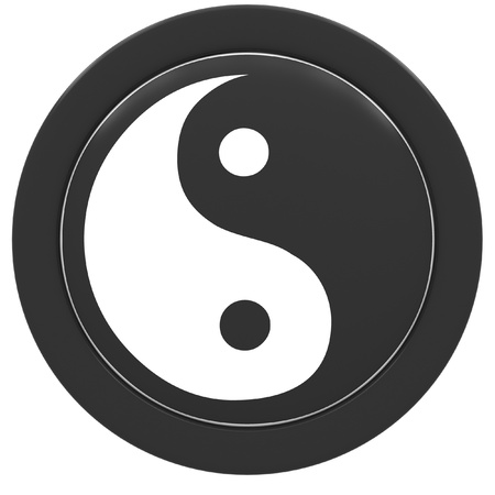 Yin and Yang symbol on a white background. photo