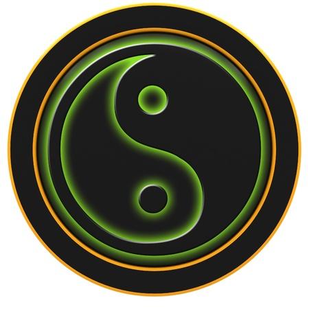 Yin and Yang symbol on a white background. photo