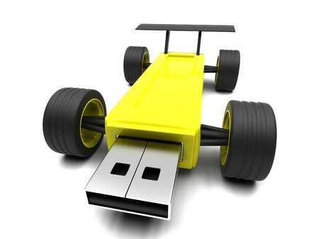 microdrive: High-speed USB flash drive on a white background.