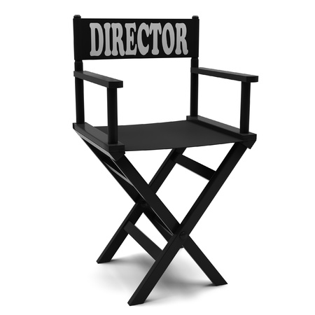 Flim industry  directors chair on a white background  photo