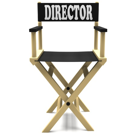 Chair director on white background. photo