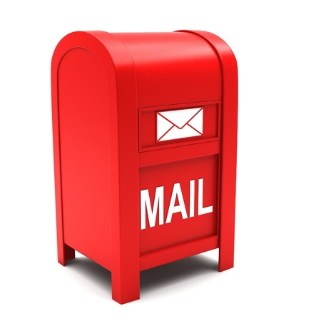 Mailbox on a white background. Stock Photo - 13320964