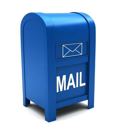 Mailbox on a white background Stock Photo - 13436239