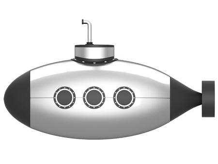 seaman: Submarine isolated on white background.