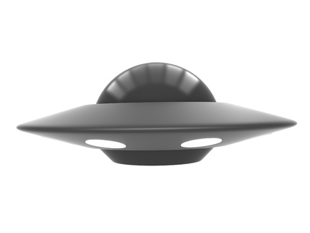 visitors area: Ufo isolated on white background