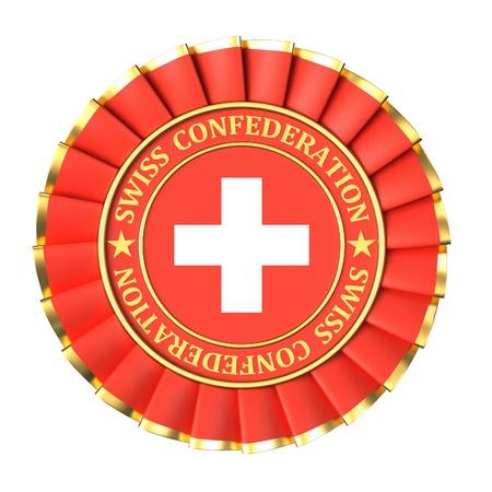 confederation: Premio del nastro con i simboli di Confederazione Svizzera