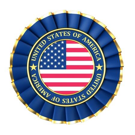 Ribbon Award with the symbols of United States photo