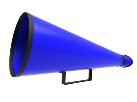 Retro megaphone in blue colors Stock Photo - 16525461