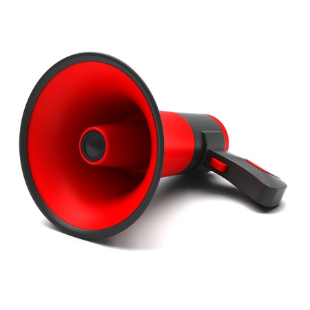 Red megaphone on a white background Stock Photo - 16835214