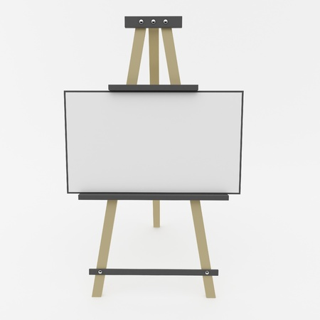 Easel on a white background photo