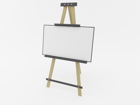 Easel on a white background Stock Photo - 16835424