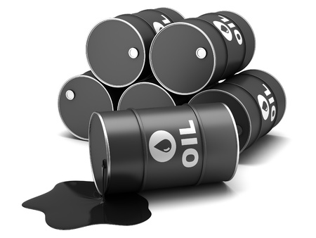 Oil barrels on a white background Stock Photo - 16900724
