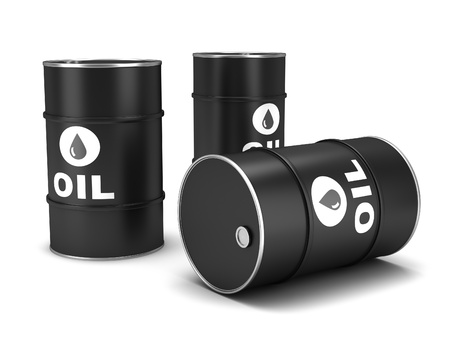 barell: Oil barrels on a white background Stock Photo