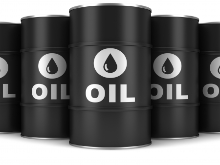 Oil barrels on a white background photo