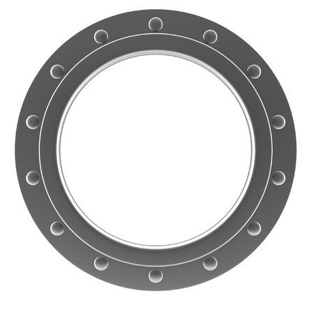 Illustration of a chrome ship porthole illustration