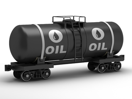 liquified: Railroad tank wagon on a white background