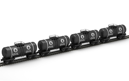 Railroad tank wagon on a white background Stock Photo - 17133911