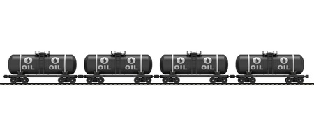 Railroad tank wagon on a white background  Stock Photo - 17133913