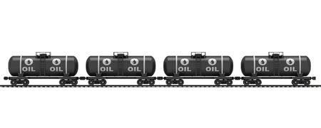 Railroad tank wagon on a white background Stock Photo - 17133913