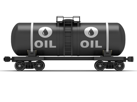 Railroad tank wagon on a white background Stock Photo - 17245201