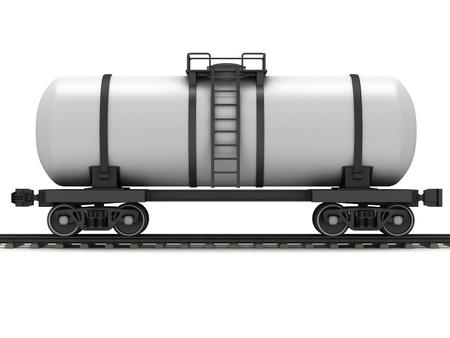 Railroad tank wagon on a white background