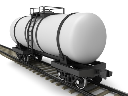 Railroad tank wagon on a white background Stock Photo - 17245207