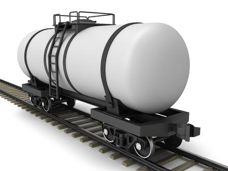 Railroad tank wagon on a white background Stock Photo - 17245207