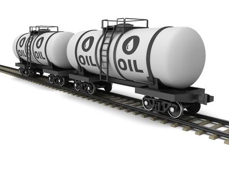 Railroad tank wagon on a white background. Stock Photo - 17250039