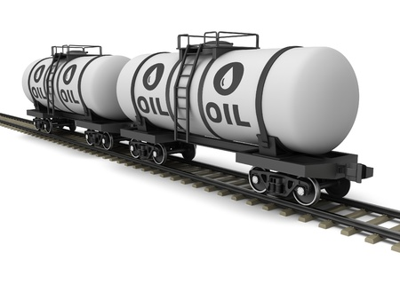 cisterna: Vagón cisterna de ferrocarril sobre un fondo blanco.
