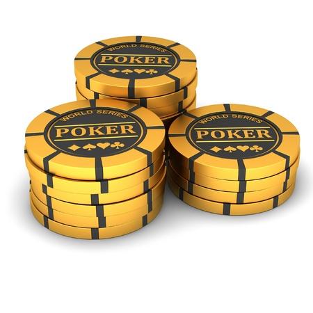 poker chip: Poker chips on a white background
