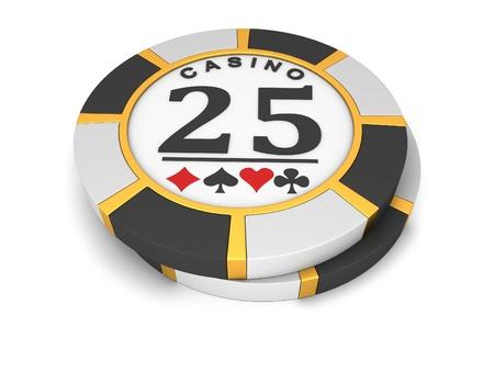 fichas de casino: Fichas de casino sobre un fondo blanco.