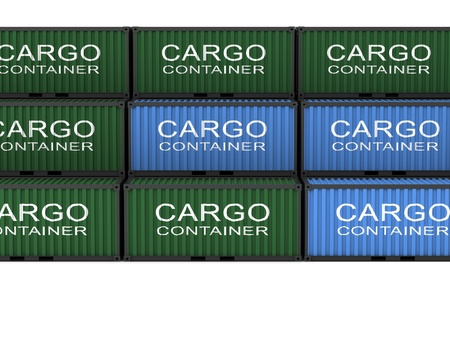 Cargo container on a white background Stock Photo - 18824352