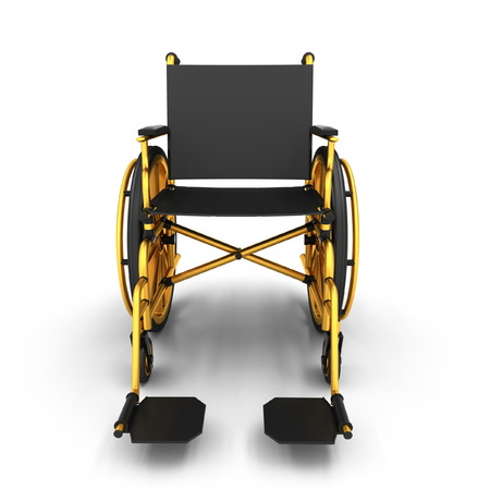 Black wheelchair on a light background photo