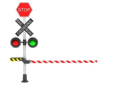 rail cross: A rail road signal Stock Photo