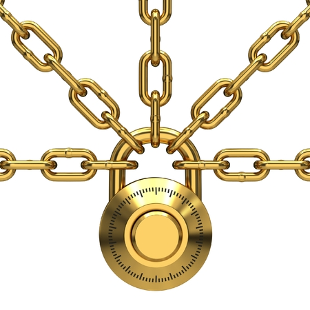 enclose: Lock with chain