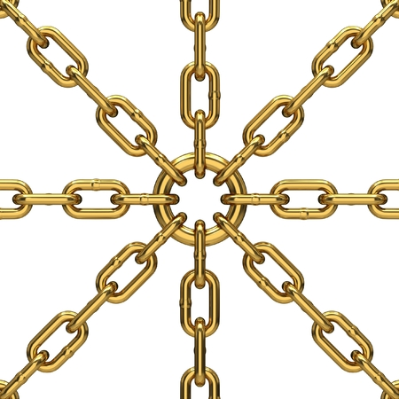 enclose: metal chains Stock Photo