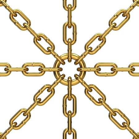 enclose: metal chains Stock Photo