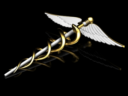 caduceus medical symbol: caduceus medical symbol Stock Photo