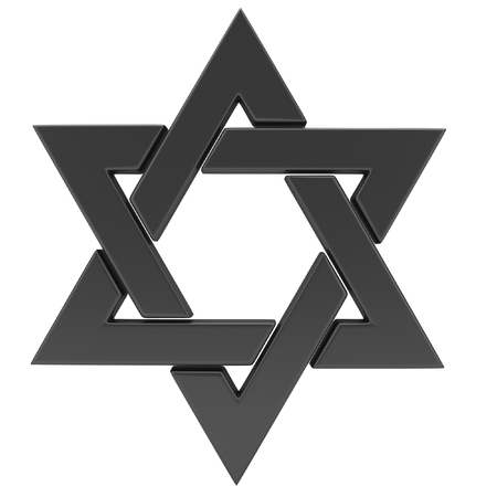 israelite: Star of David. 3D illustration Stock Photo