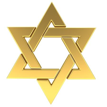chanukkah: Star of David. 3D illustration Stock Photo